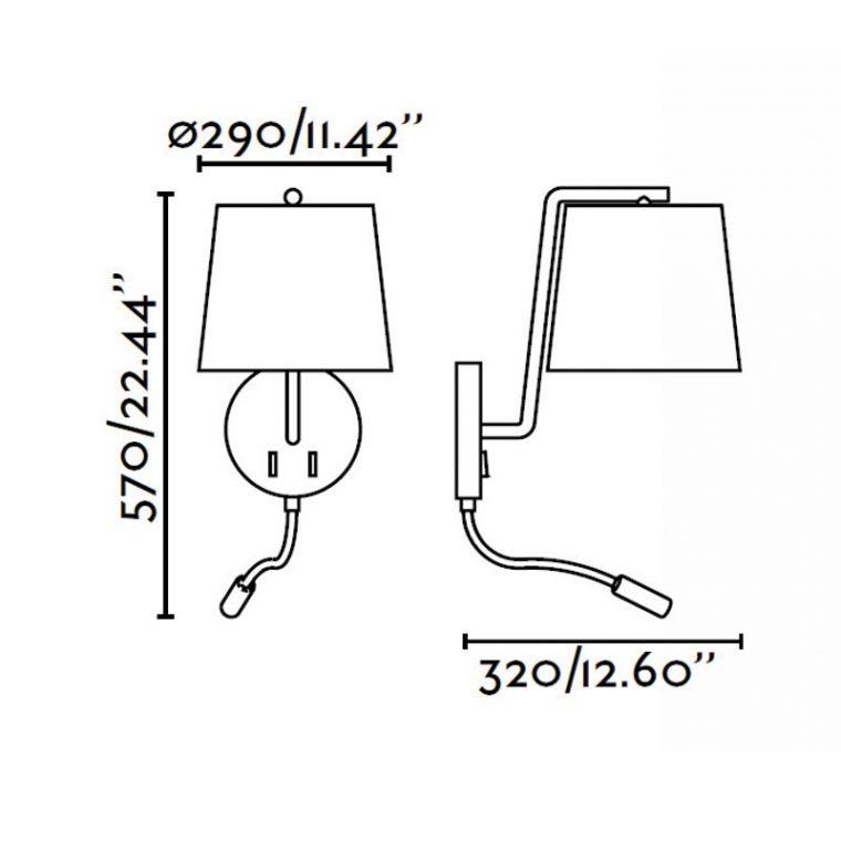 Бра + led-светильник BERNI Faro никель 29331