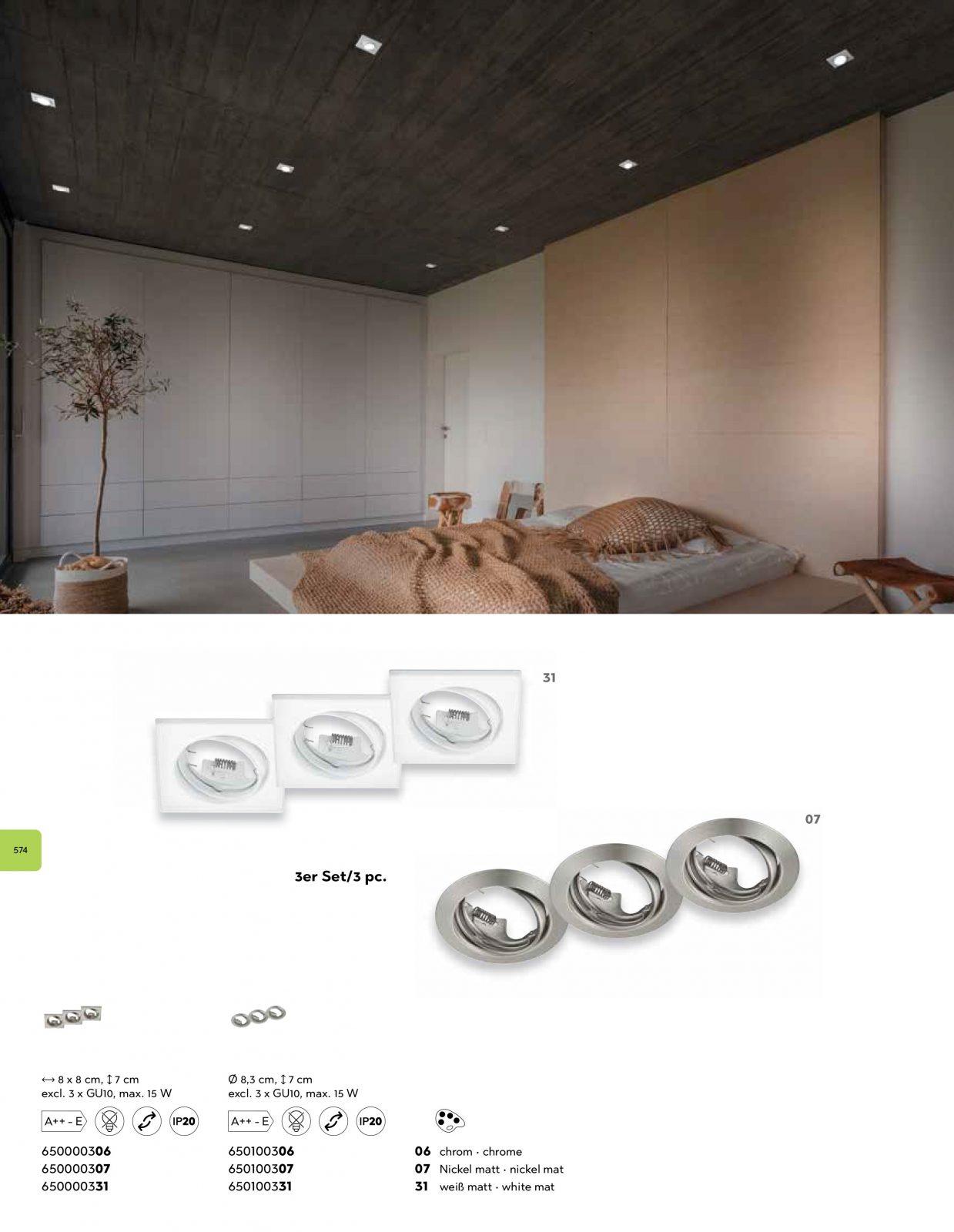 Точечный светильник Trio 650100331