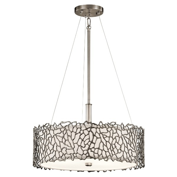 Elstead KL/SILCORAL/P/A Silver Coral