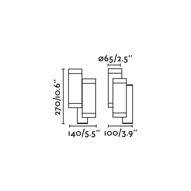 Faro STEPS бра белое DOBLE 4xGU10 35W