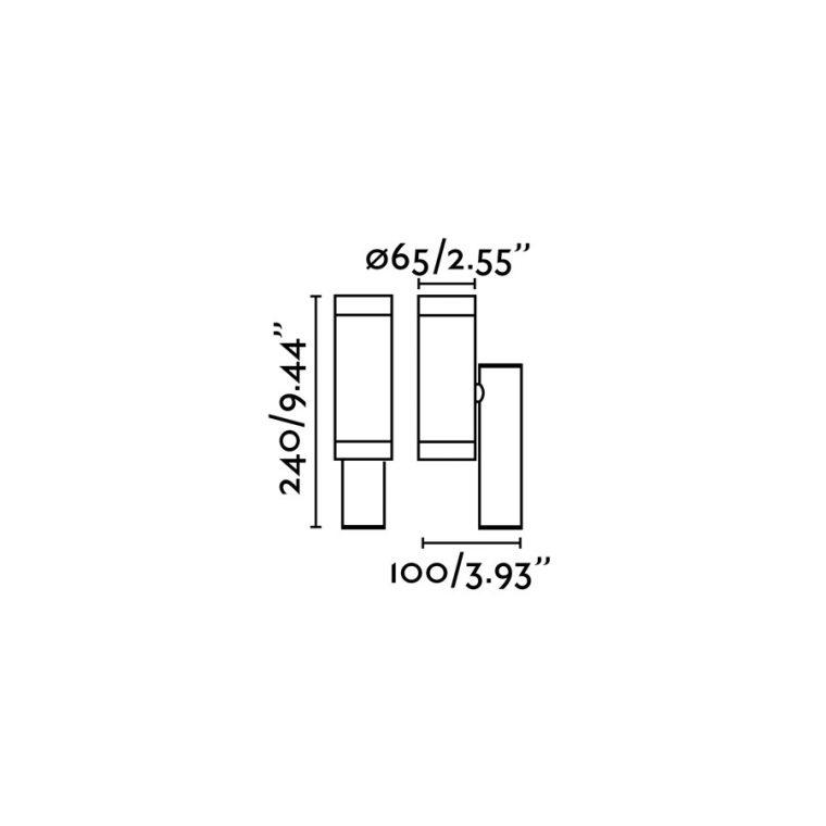Faro STEPS бра тёмно-серое 2xGU10 35W