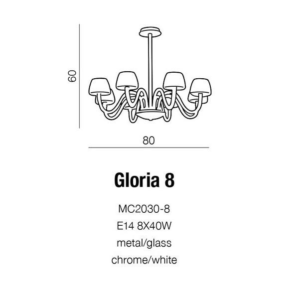 Azzardo Gloria 8 (MC 2030-8)