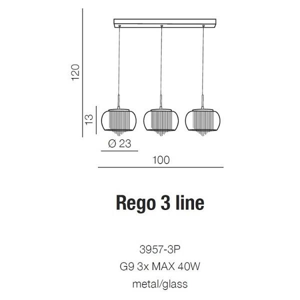 Azzardo Rego 3 Line 3957-3P