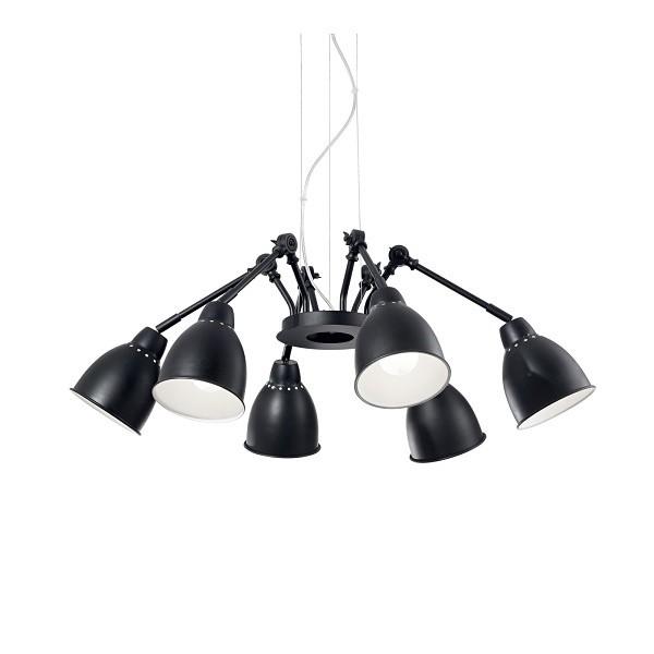 Ideal Lux NEWTON SP6 NERO 174242