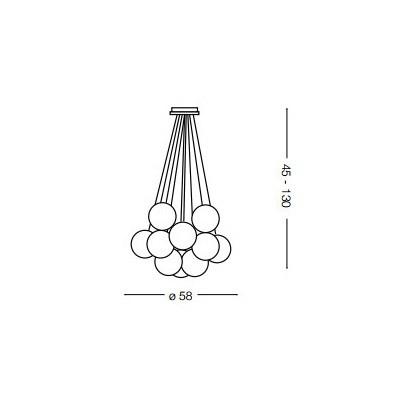 Ideal Lux MAPA BIANCO SP11 (131924)