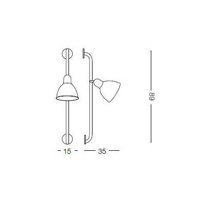 Ideal Lux SHOWER AP1 NERO (179643)