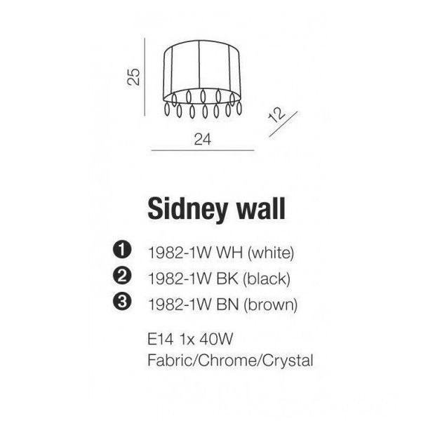 Azzardo Sidney Wall (1982-1W BN BROWN)